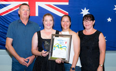 Australia Day Award winner with family