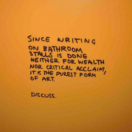 Toilet graffiti
