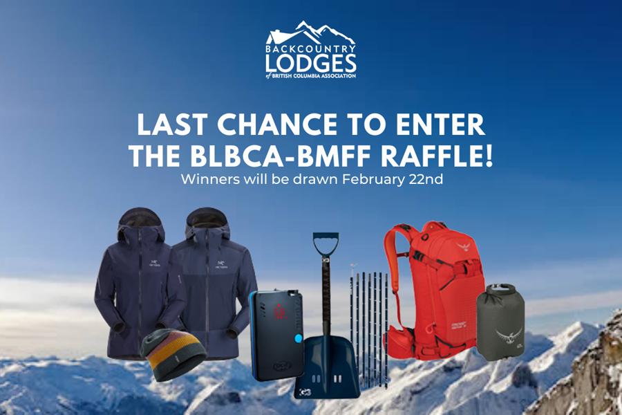 Last chance to enter the BLBC BMFF Raffle