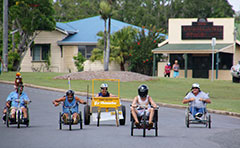 Billy cart race competitors