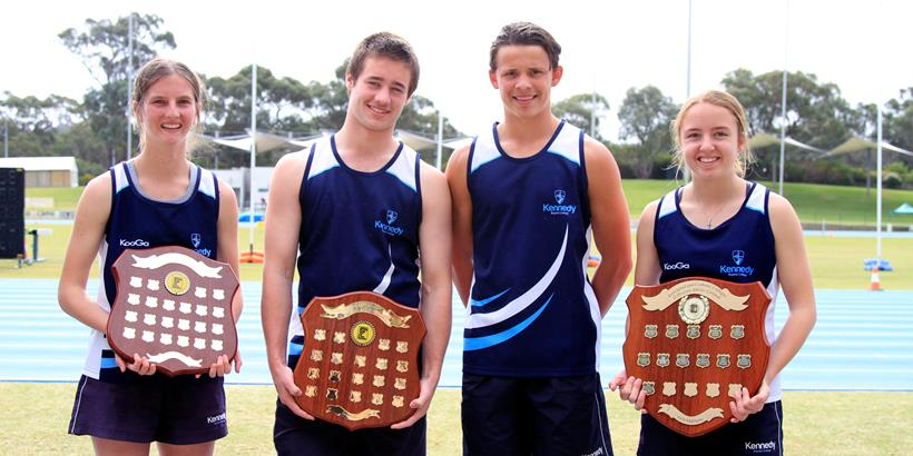The 2017 Interschool, athletics Carnival was a successful event and showcased some of Kennedy's amazing Athletes who represented their school with the high standards we expect from all our students. We had high expectations from the outset and despite the intermittent showers, Kennedy made a strong