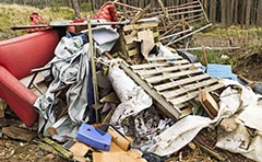 Photo of an illegal dump site