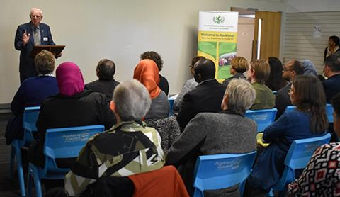 Attendees at the Auckland Regional Migrant Services Meeting