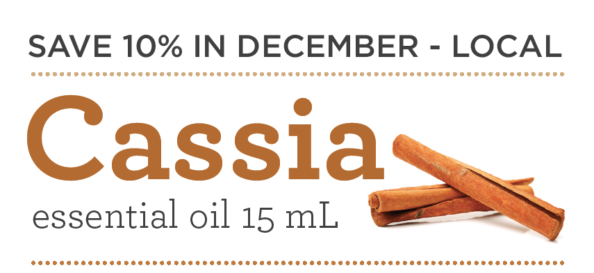 10% off Cassia during December