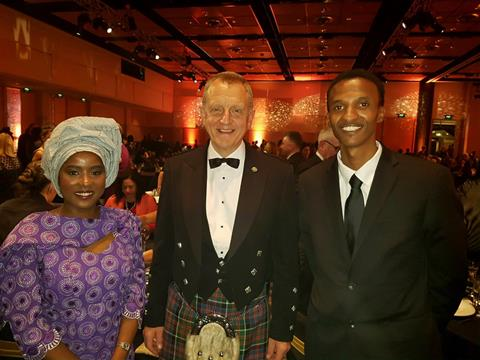 [L to R]Fatumata Bah, Colin MacDonald Chief Executive Internal Affairs and Guled Mire Office of Ethnic Communities