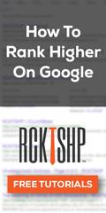 Ad: RCKTSHP - How to rank higher on Google