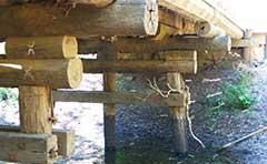 Timber bridge due for replacement