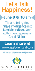 Ad: Capstone Management Let's Talk Happiness Workshop