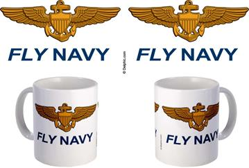Fly Navy Coffee Mugs