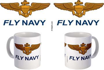 Fly Navy Coffee Mugs