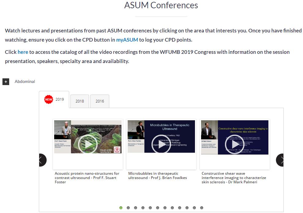 Log into myASUM to access the Congress videos