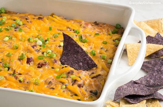 Warm and Gooey Bean Dip