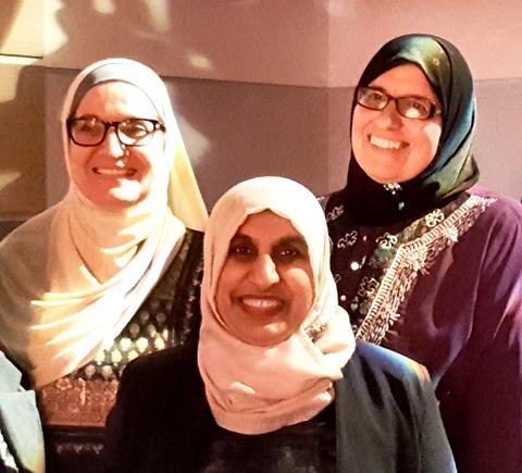 left-to-right Maysoon Salama, Anjum Rahman and Aliya Danzeisen