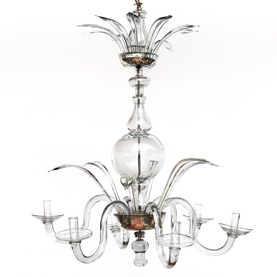 Barok lysekrone i glas