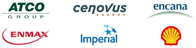 ATCO Group, Cenovus Energy, Encana, ENMAX, Imperial and Shell Canada