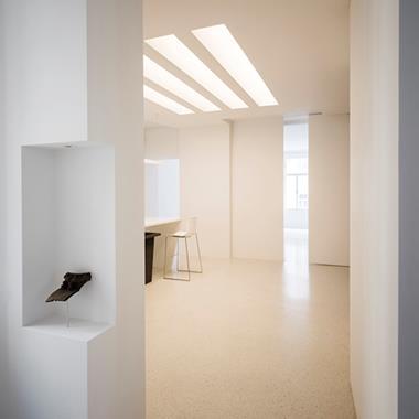 Viennese apartment with pretend skylights by Alex Graef