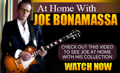 At home with Joe Bonamassa, by Guitarist Magazine. Check out to see Joe at home with his collection. Watch now