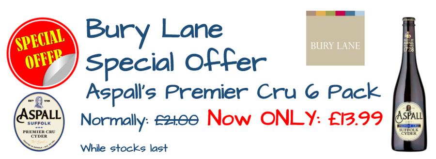 Bury Lane Farm Shop Aspalls Offer April 2018