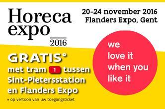 Gratis met tram 1 van Gent Sint-Pieters naar de Horeca Expo