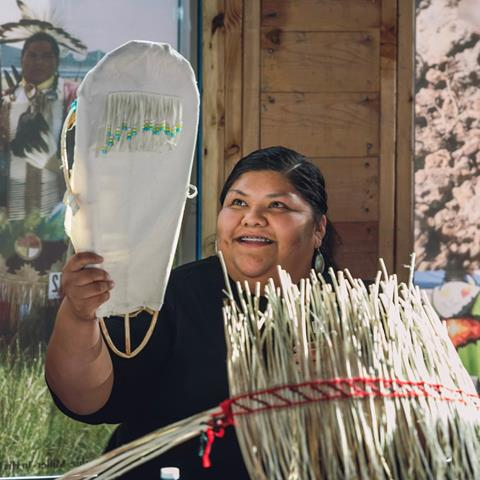 Member of Burns Paiute Tribe