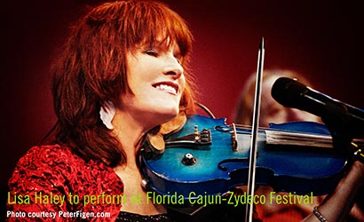 Grammy-nominated Lisa Haley will perform at the Florida Cajun-Zydeco Festival in November.
