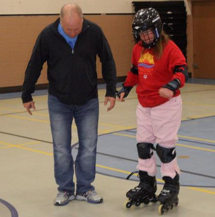 Inline skating session