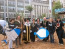 Wildlife in the City in the Market Square 'Beach' with the mayor and sherriff of Nottingham and their friends. Click to join them in the Petition fish campaign.