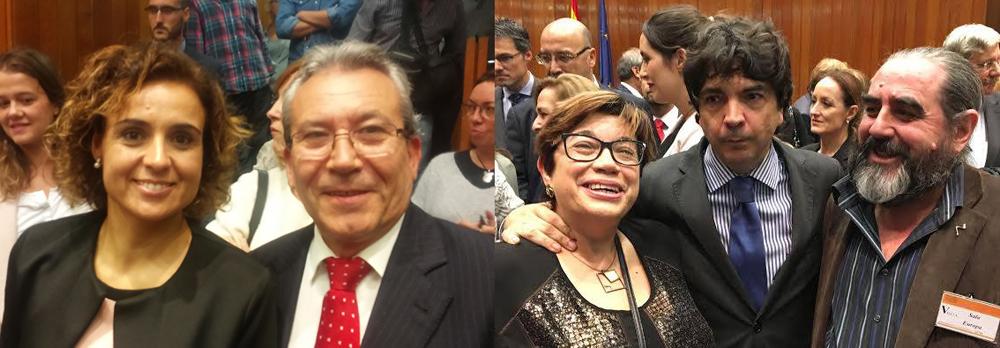 Dolors Monserrat with Alberto Rodríguez. Mª Teresa Amat, Mario Garcés and Fernando Giménez.