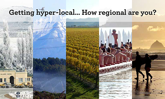 How regional are you?