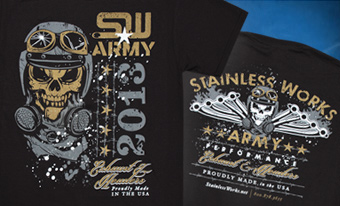 SW Army Shirt Front and Back