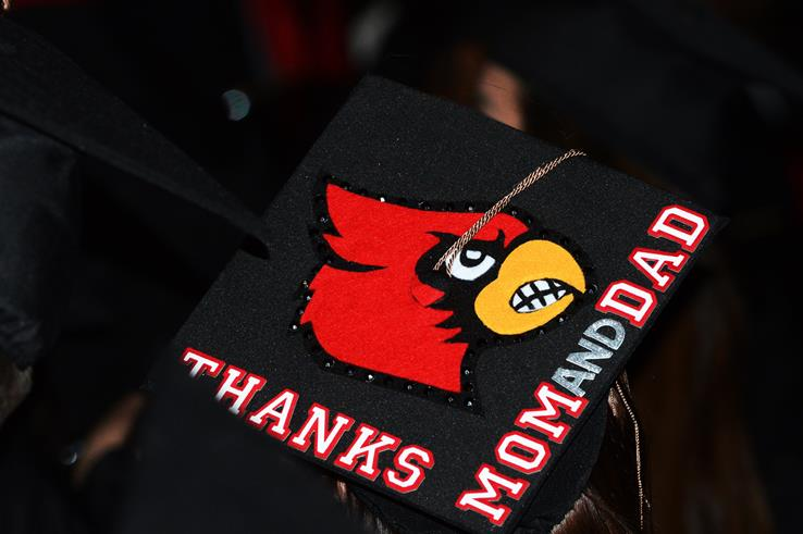 Thanks mom and dad commencement cap photo