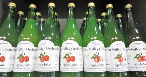 Bury Lane Farm Shop Cam Valley Orchard Apple Juices July 2018
