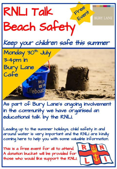 Bury Lane Farm Shop RNLI Beach Safety Talk 30th July 2018