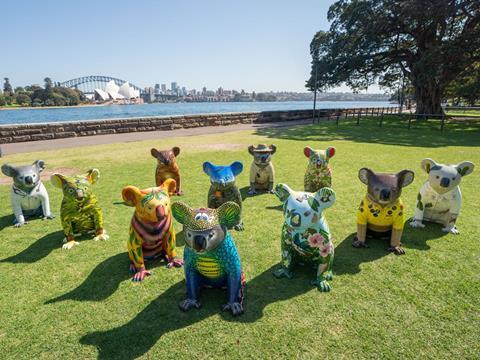 Koala Sculptures at Royal Botanic Garden