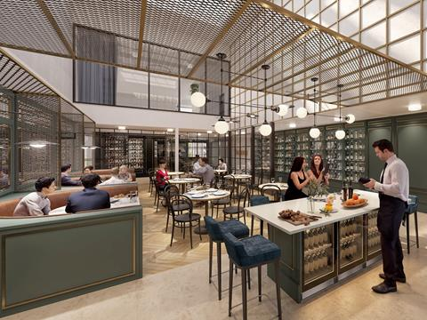 An artist's impression of the lobby of the new Mullane's Hotel in The Hills District NSW