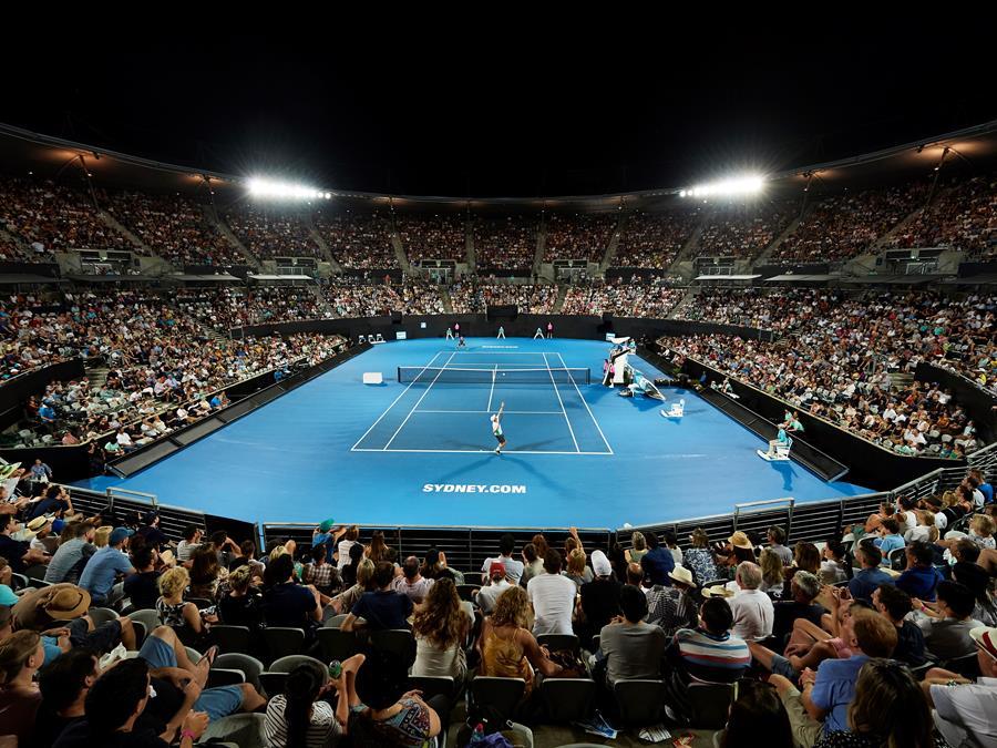 The court at Ken Rosewall Arena