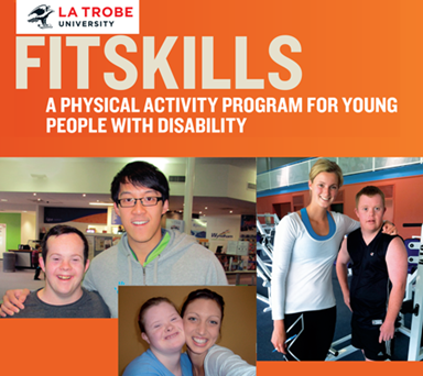 Montage of three Fitskills participants and their trainers.