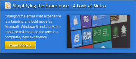 Simplifying the Experience  A Look at Metro