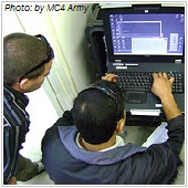 IT support working with computer
