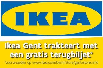 Ikea Gent trakteert met gratis terugbiljet