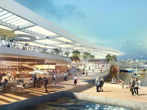 An artist's impression of the new Sydney Fish Markets.