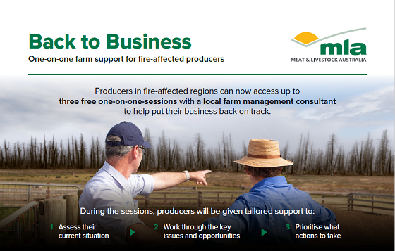 back to business one on one farm support for fire affected producers