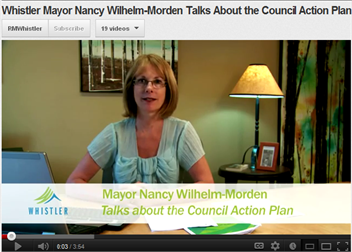 Mayor Nancy Wilhelm-Morden talks about the Council Action Plan.