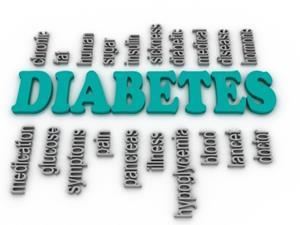 3D image of diabetes word cloud