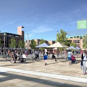 Plasdŵr Square