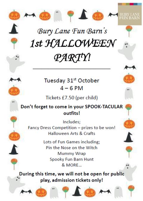 Bury Lane Fun Barn Halloween Party 2017