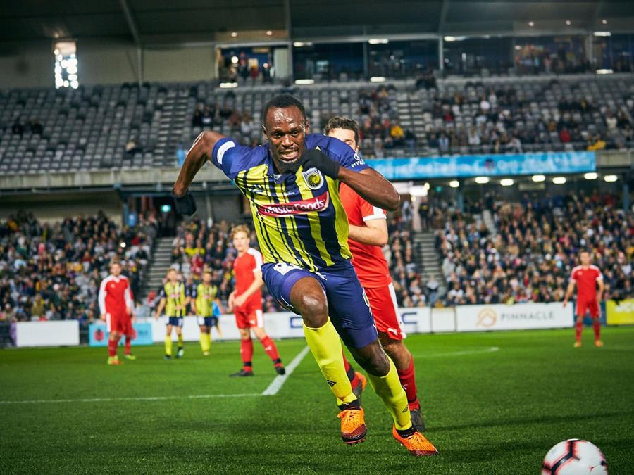 Usain Bolt Central Coast Mariners NSW
