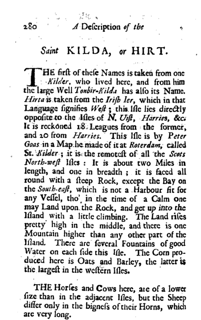 extract: A Description of the Western Islands of Scotland by Martin Martin, Gent. 1703