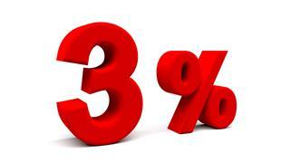 3% nota
