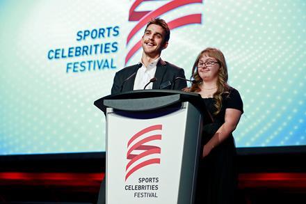 Brandon Sutter and Frances Collison at SCF 2016